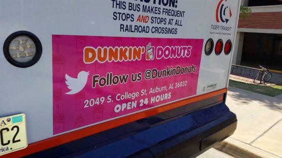 Auburn Transit Ad Dunkin' Donuts