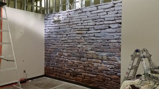 Custom Brick Wall Design Install