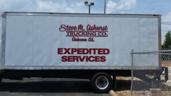 Large Truck Trailer Decal Design