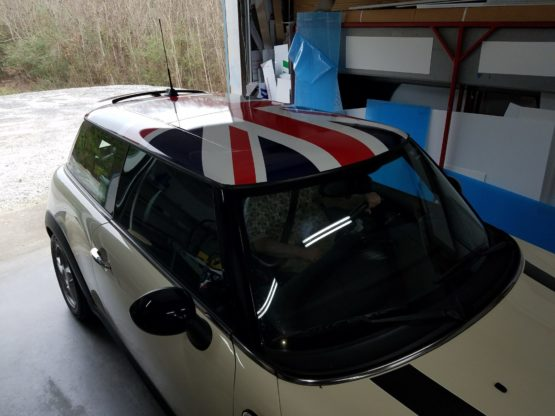 Mini Cooper Roof Wrap