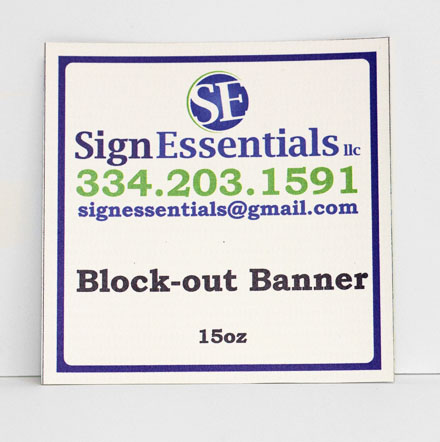 Block-out Banner